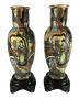 Par De Vaso Antigo Ceramica Tasca 47cm