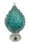 Pinha De Cristal Murano Esmeralda 30cm