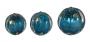 Pinha Esfera Em Cristal Murano Trio Azul Aquamarine