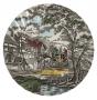 Prato Raso Antigo Porcelana Inglesa Fazendinha 25cm
