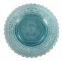 Presentoir Pratinho Compoteira Antiga Vidrao Grega Azul
