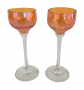 Taças Em Carnival Glass Vidro Fogo