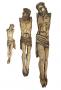 Trio De Escultura Cristo Em Marfim De Goa