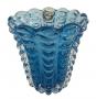 Vaso Cristal Di Murano Azul Claro