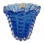 Vaso Cristal Di Murano Azul Escuro