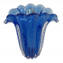 Vaso Cristal Di Murano Pequeno Trouxinha Leque Azul