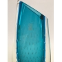 Vaso Cristal Murano Sao Marcos Degrade Com Bolhas Azul