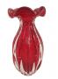 Vaso Cristal Murano Sao Marcos Vermelho Trouxinha