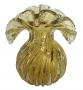 Vaso De Murano Trouxinha Cristal Ambar Dourado