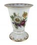 Vaso Porcelana Antiga Flores Coloridas