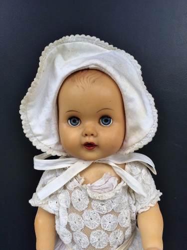 Antiga Boneca Estrela Vestido Branco