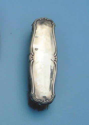 Antigo Par De Escova Em Prata 800 Com Cerdas Originais