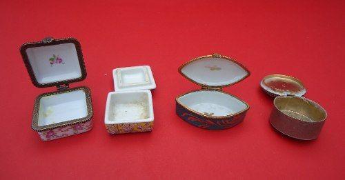 Conjunto Caixas Porta Joias Ou Comprimidos Limoges E Outras