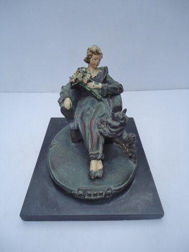 Espetacular Escultura Em Terracota E Petit Bronze Veja Fotos