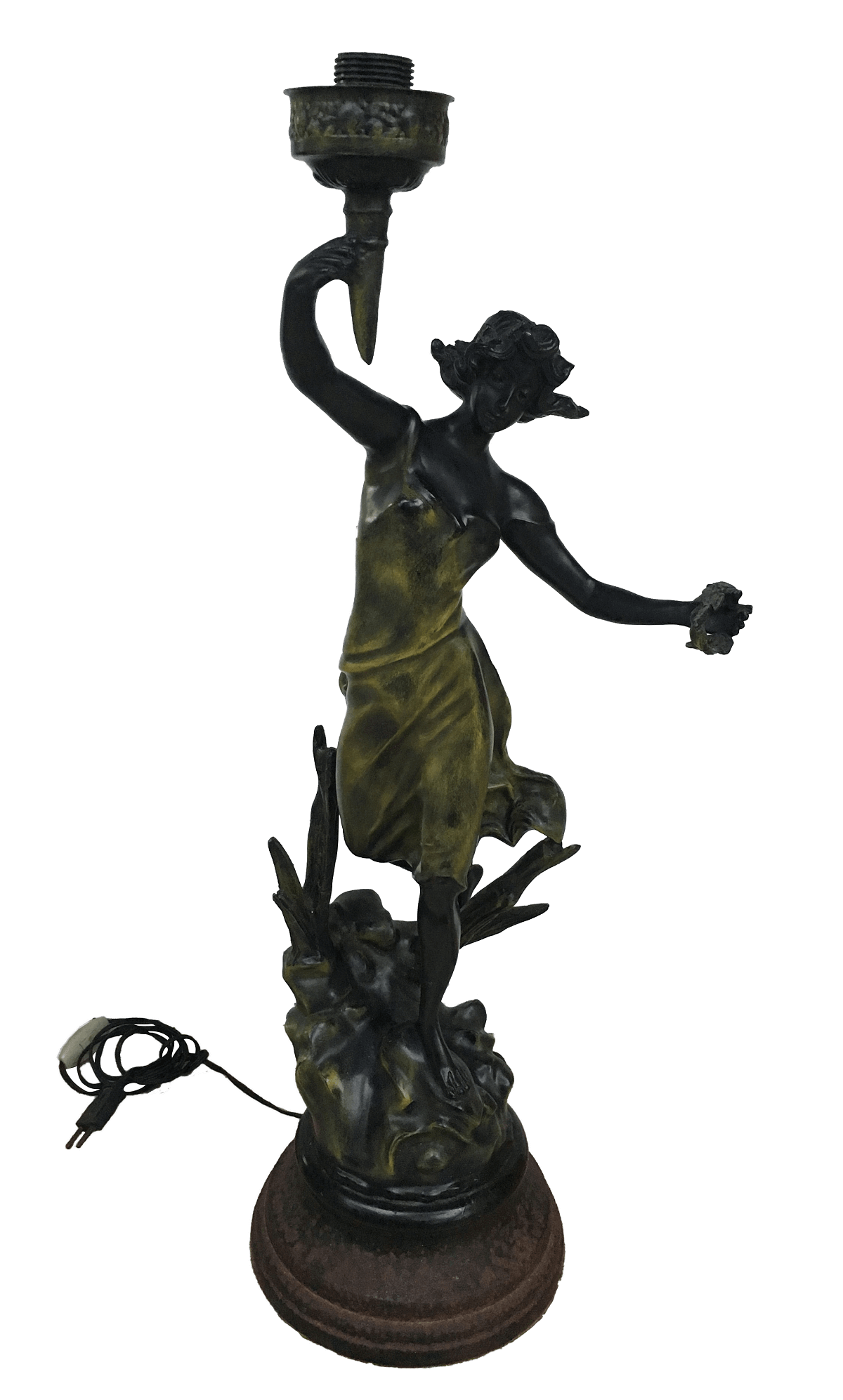 Abajur Luminaria Antiga Francesa Geo Maxim Petit Bronze