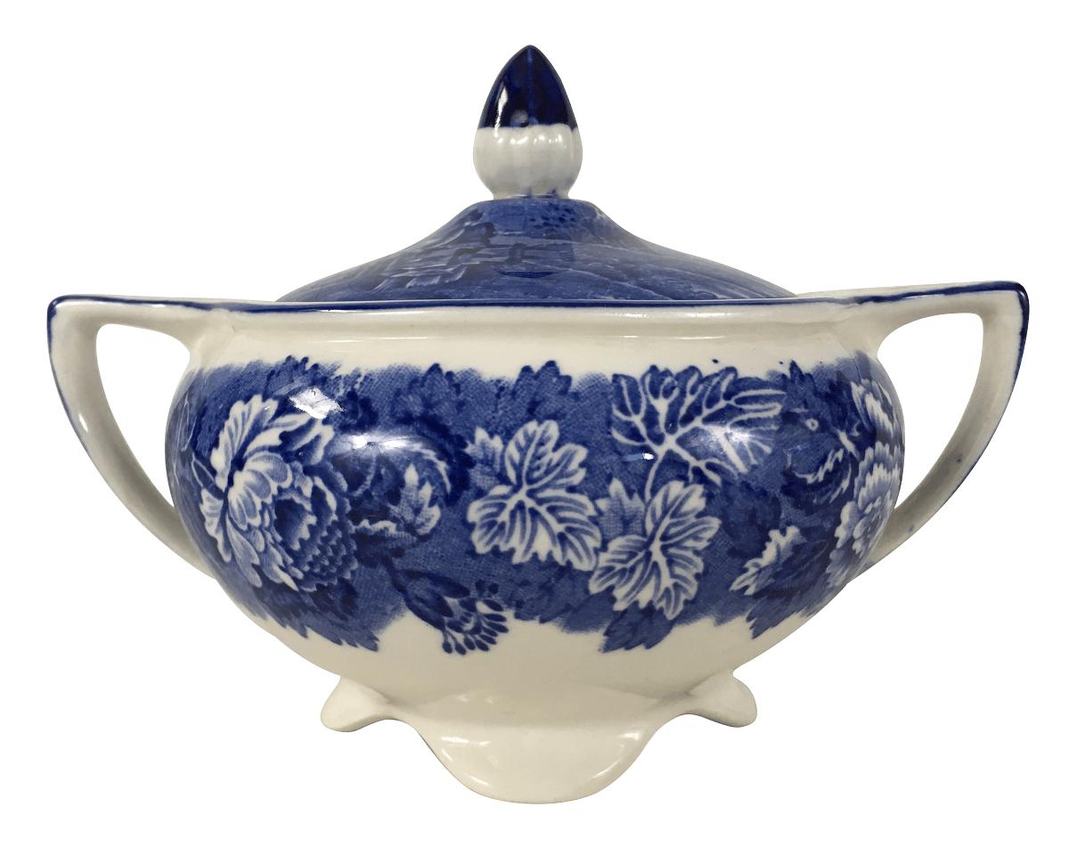 Açucareiro Em Porcelana Antiga Inglesa Fazendinha