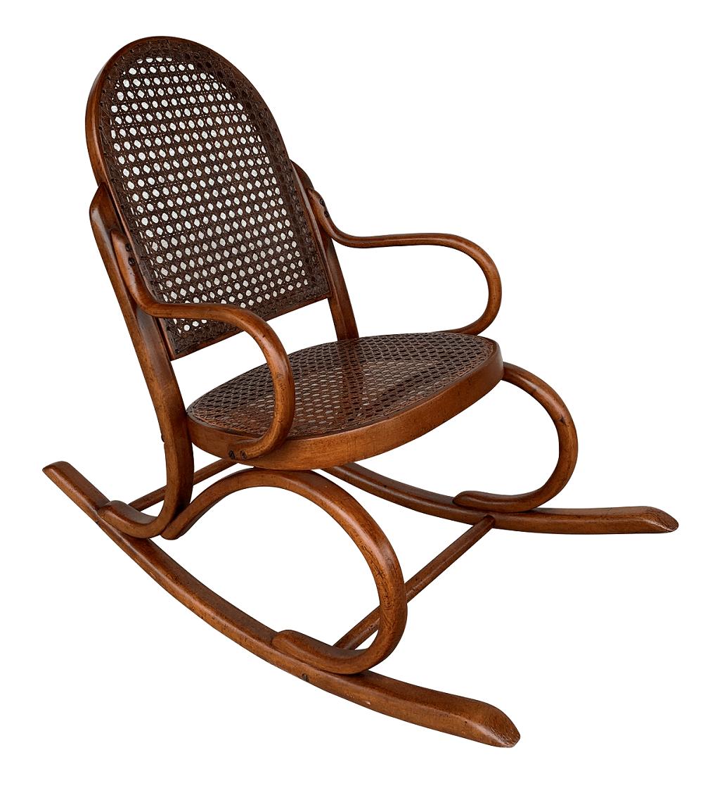 Antiga Cadeira Balanço Infantil Austriaca Thonet