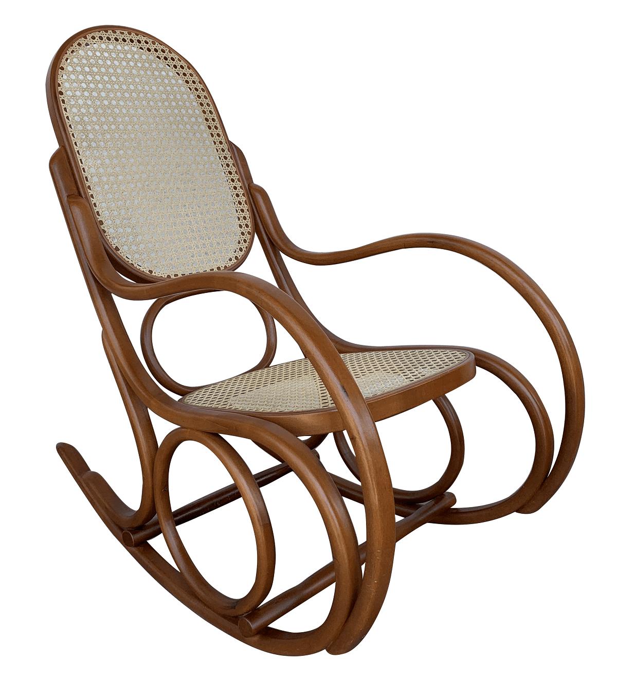 Antiga Cadeira De Balanço Austriaca Thonart Palhinha