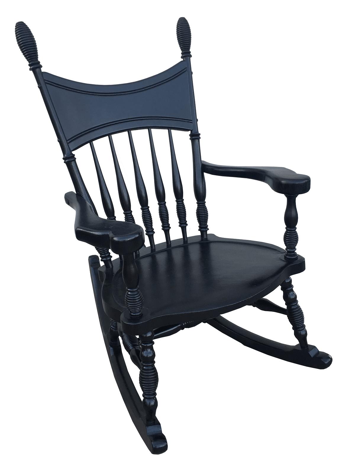 Antiga Cadeira De Balanço Colonial Em Madeira Torneada