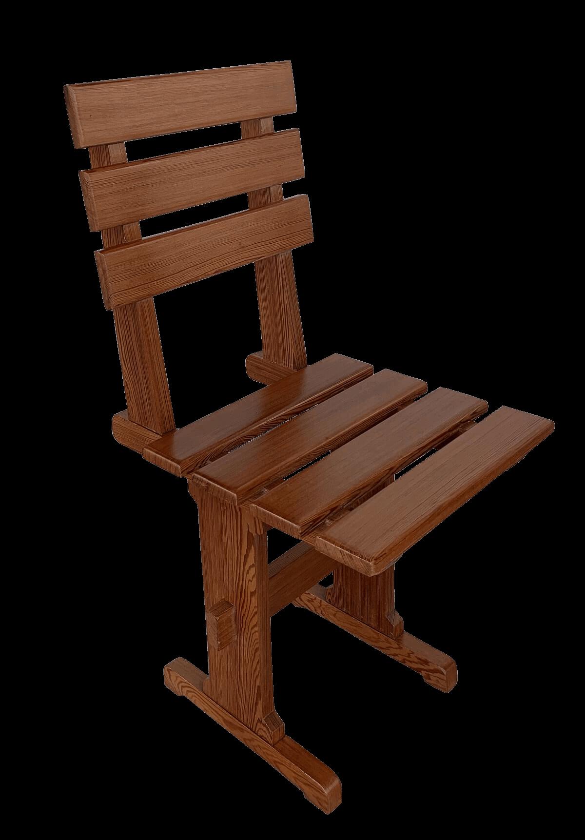 Antiga Cadeira Em Pinho De Riga Perfeita