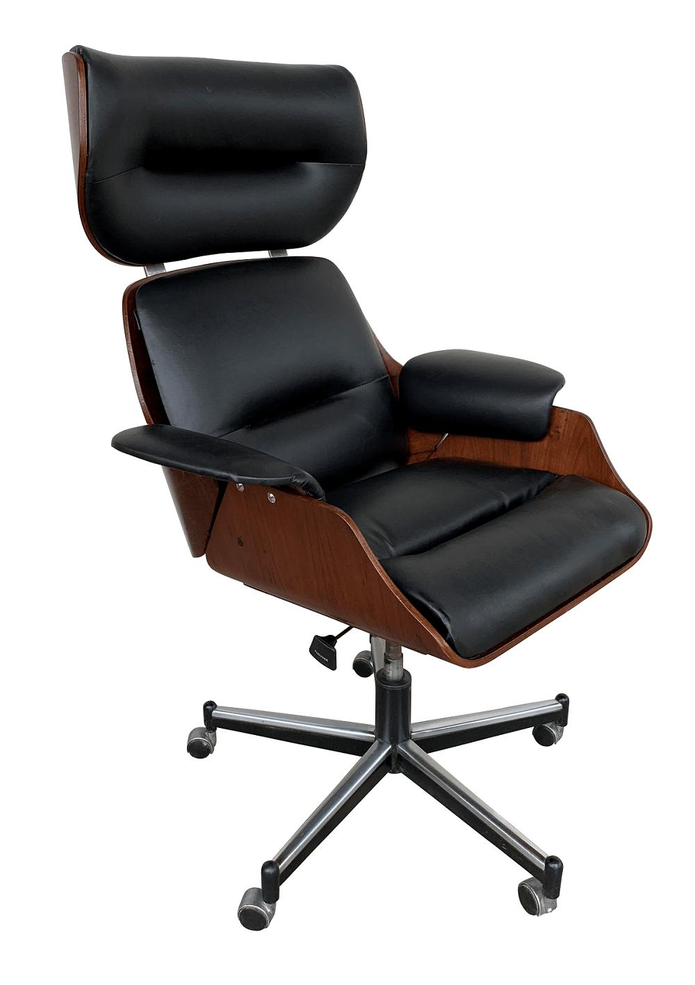 Antiga Cadeira Escritorio Giratoria Design Estilo Charles Eames