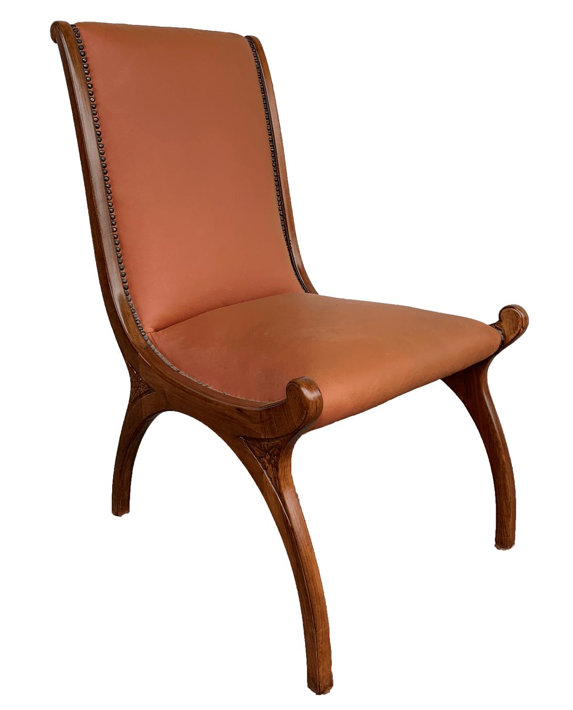 Antiga Cadeira Estilo Ingles Madeira Nobre