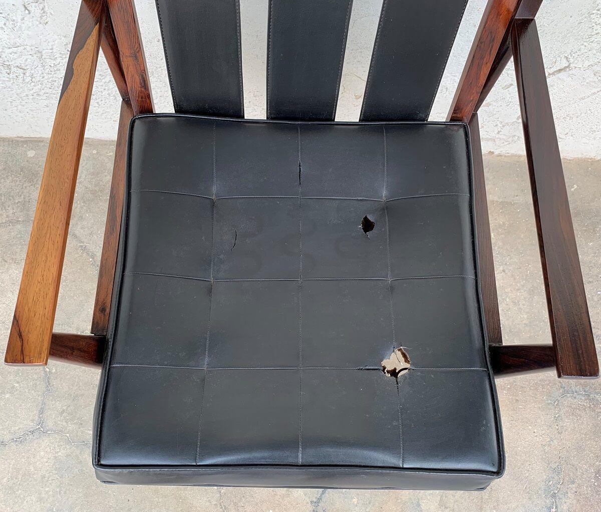 Antiga Cadeira Giratoria De Escritorio Jacaranda Design Anos 60