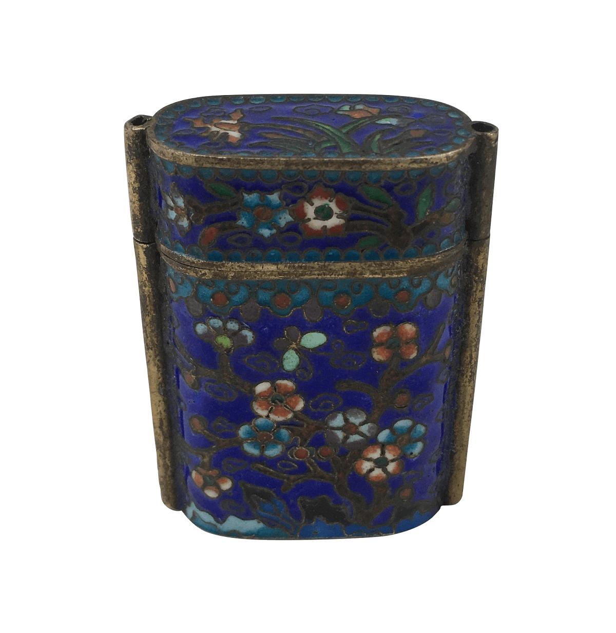 Antiga Caixinha Cloisonne Porta Comprimido