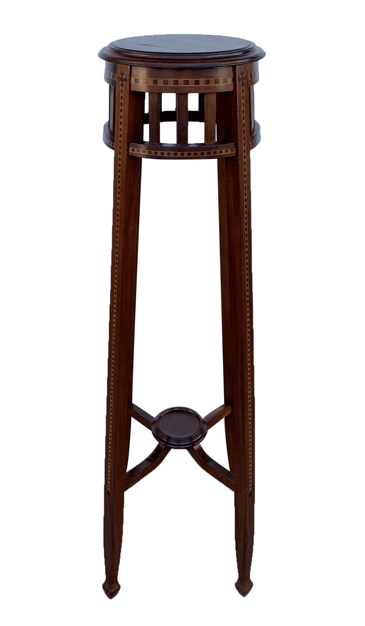 Antiga Coluna Cantoneira Marchetada Art Noveau
