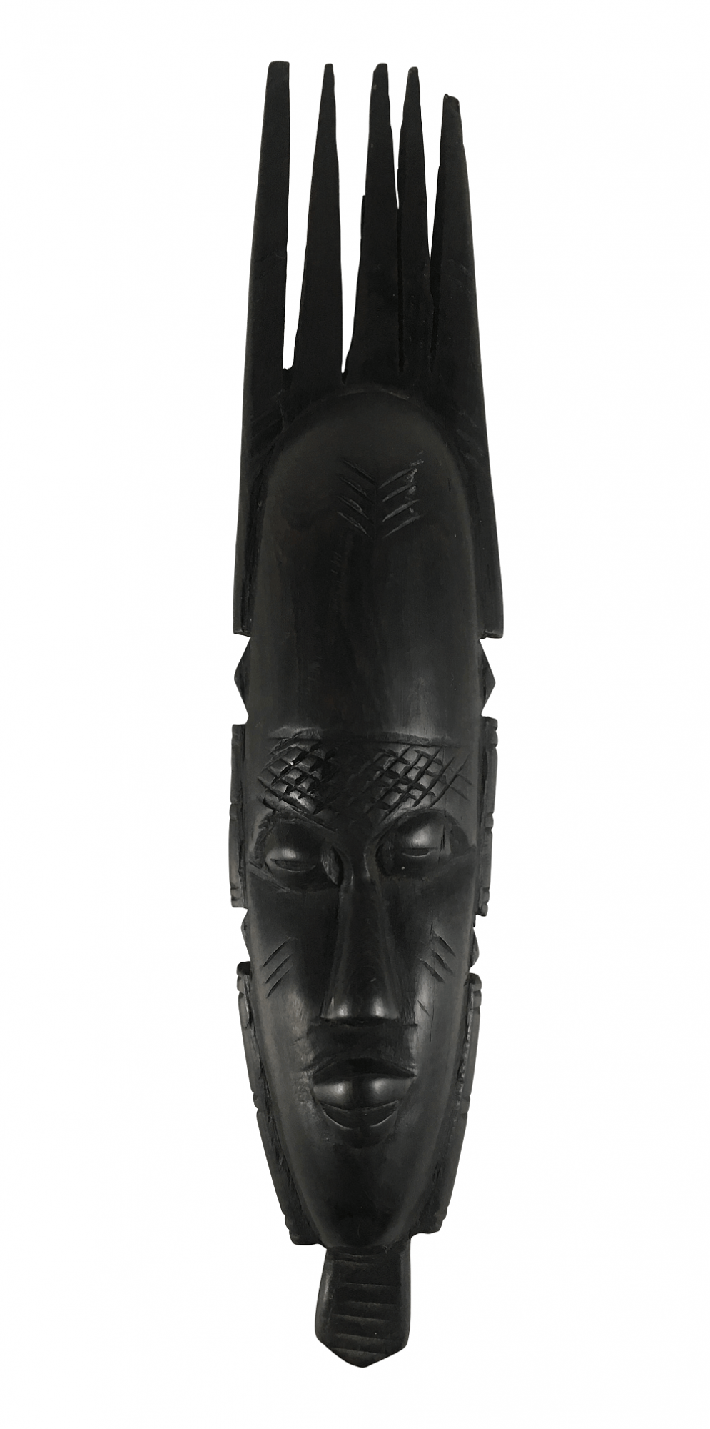 Antiga Escultura Africana Madeira Ebano