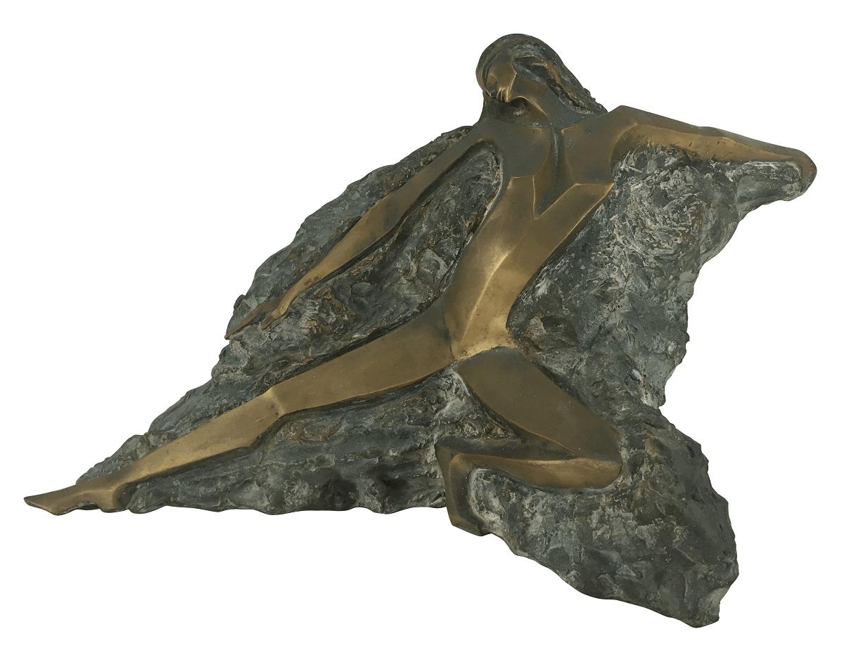 Antiga Escultura Bronze Santos Lopes Assinada