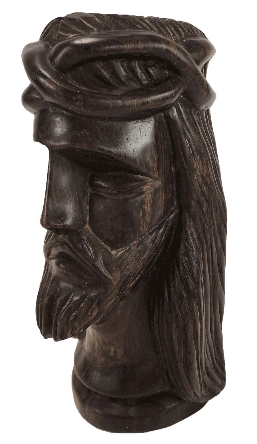Antiga Escultura Cristo Em Jacaranda Maciço