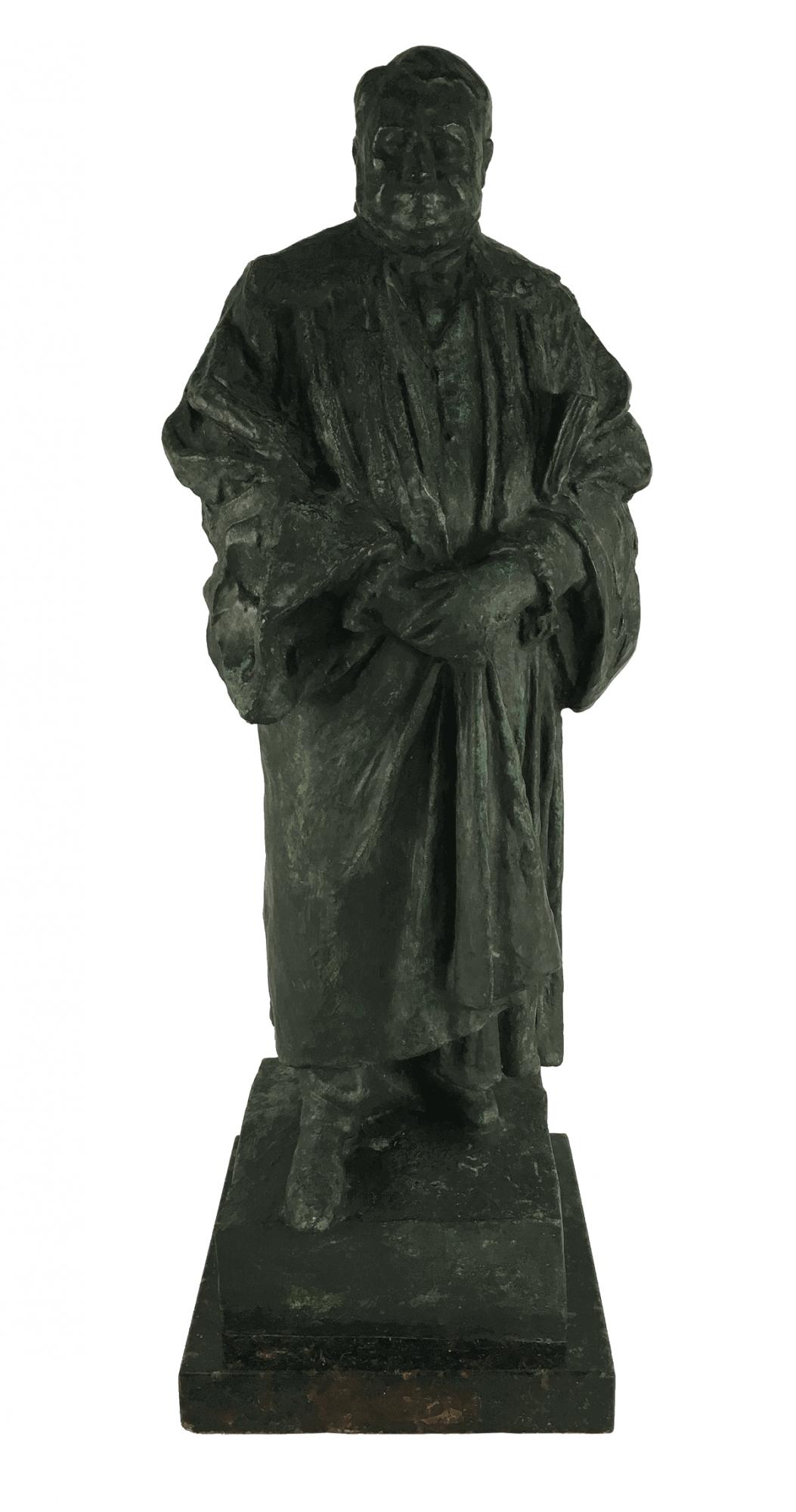 Antiga Escultura De Bronze Jurista Teixeira De Freitas 17kg