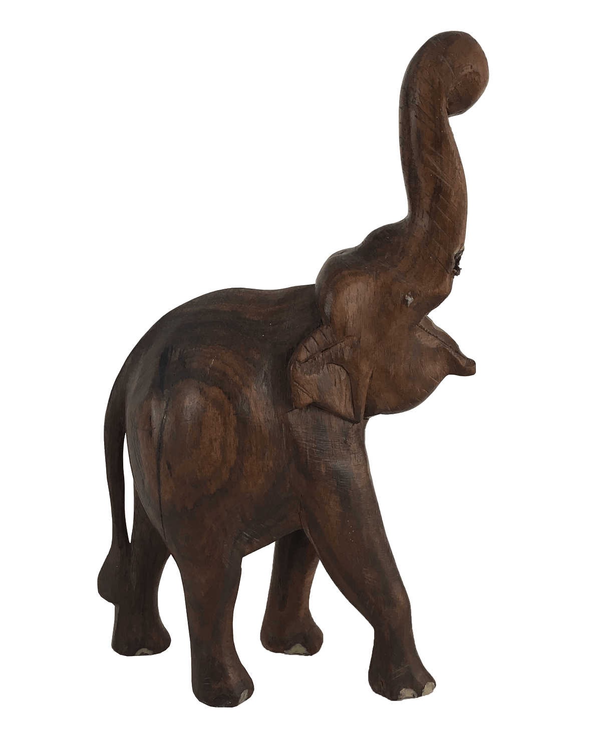 Antiga Escultura Elefante Em Jacaranda