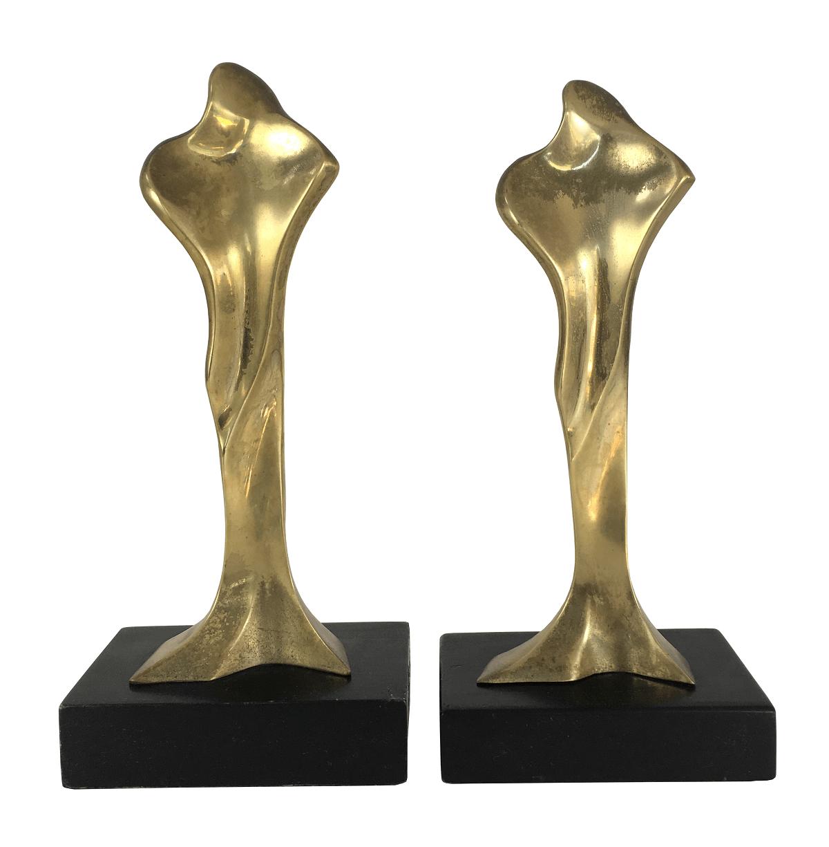 Antiga Escultura Em Bronze Assinada Spalletti Par