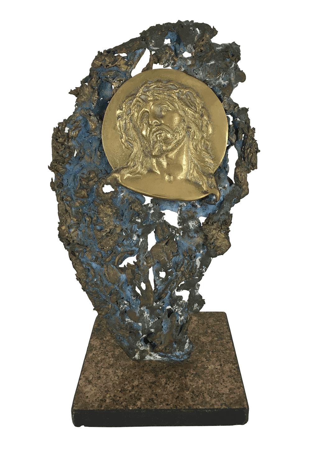 Antiga Escultura Em Bronze Imagem Jesus Cristo