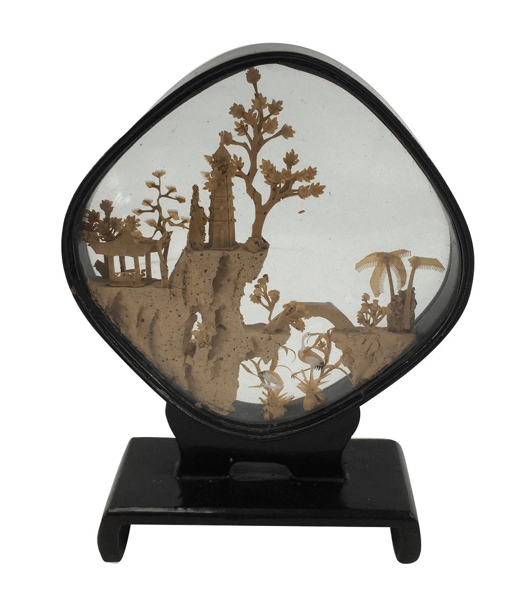 Antiga Escultura Pagode Chines