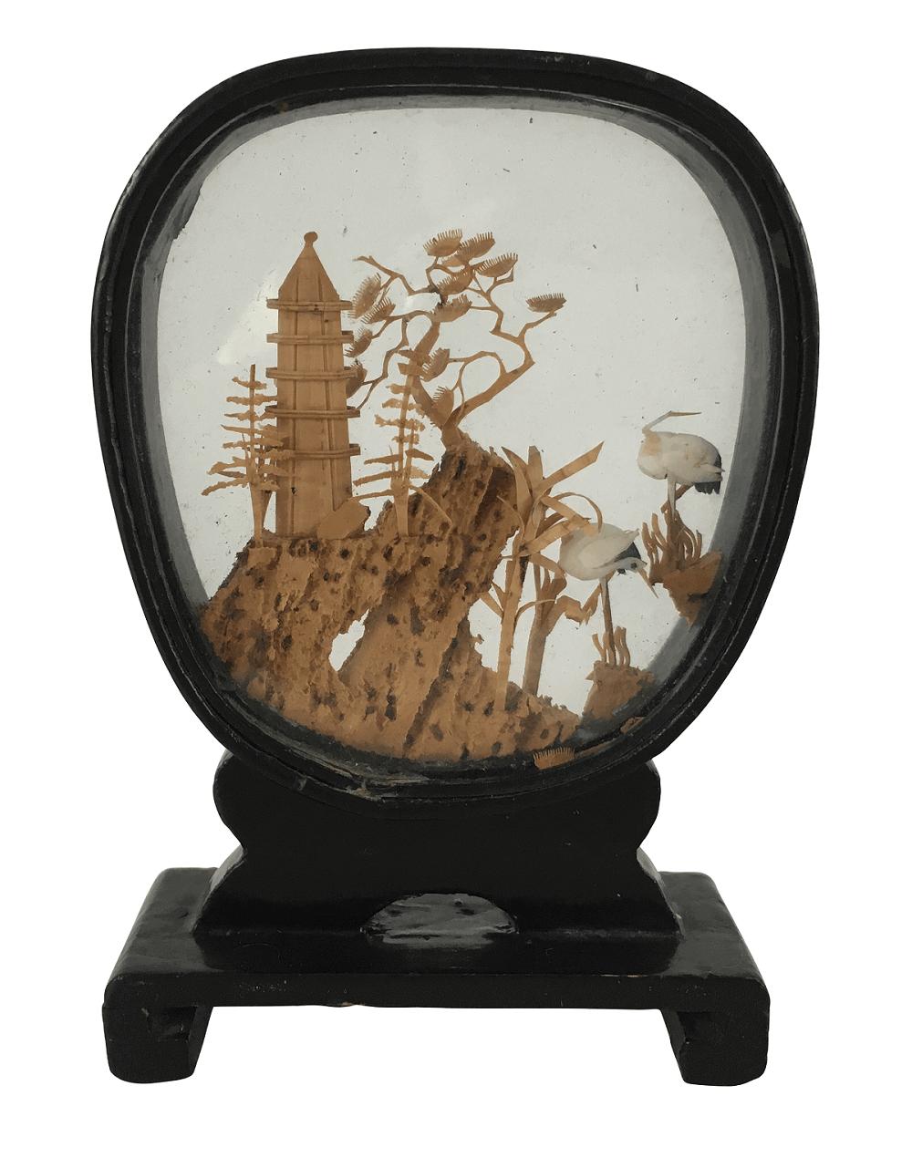 Antiga Escultura Pagode Chines Miniatura