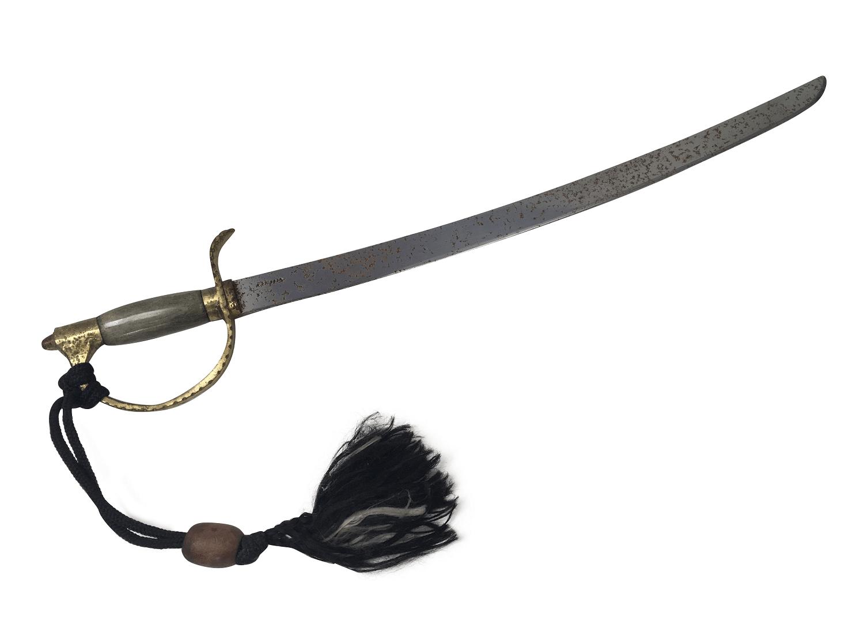 Antiga Espada Sabre Nippon Cabo De Bronze