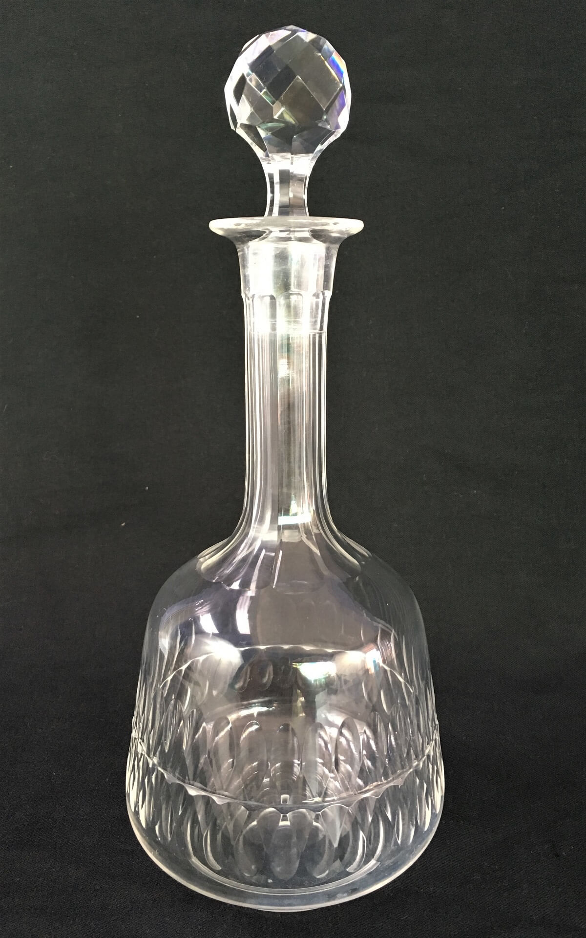 Antiga Garrafa Licoreira Cristal Baccarat Tampa Geometrica
