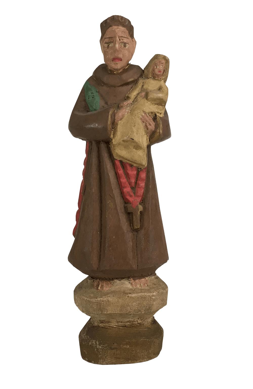 Antiga Imagem Sacra Santo Antonio Madeira
