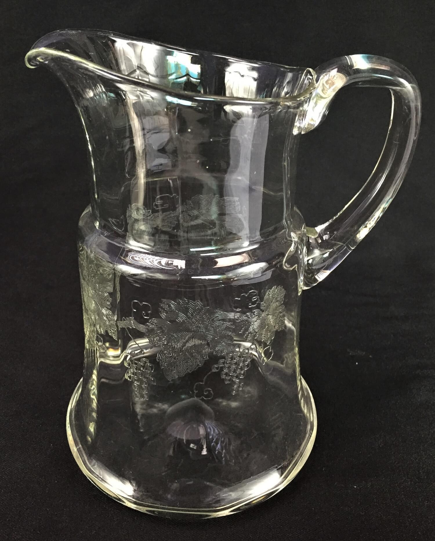 Antiga Jarra De Agua Cristal Saint Louis Lapidaçao Uvas