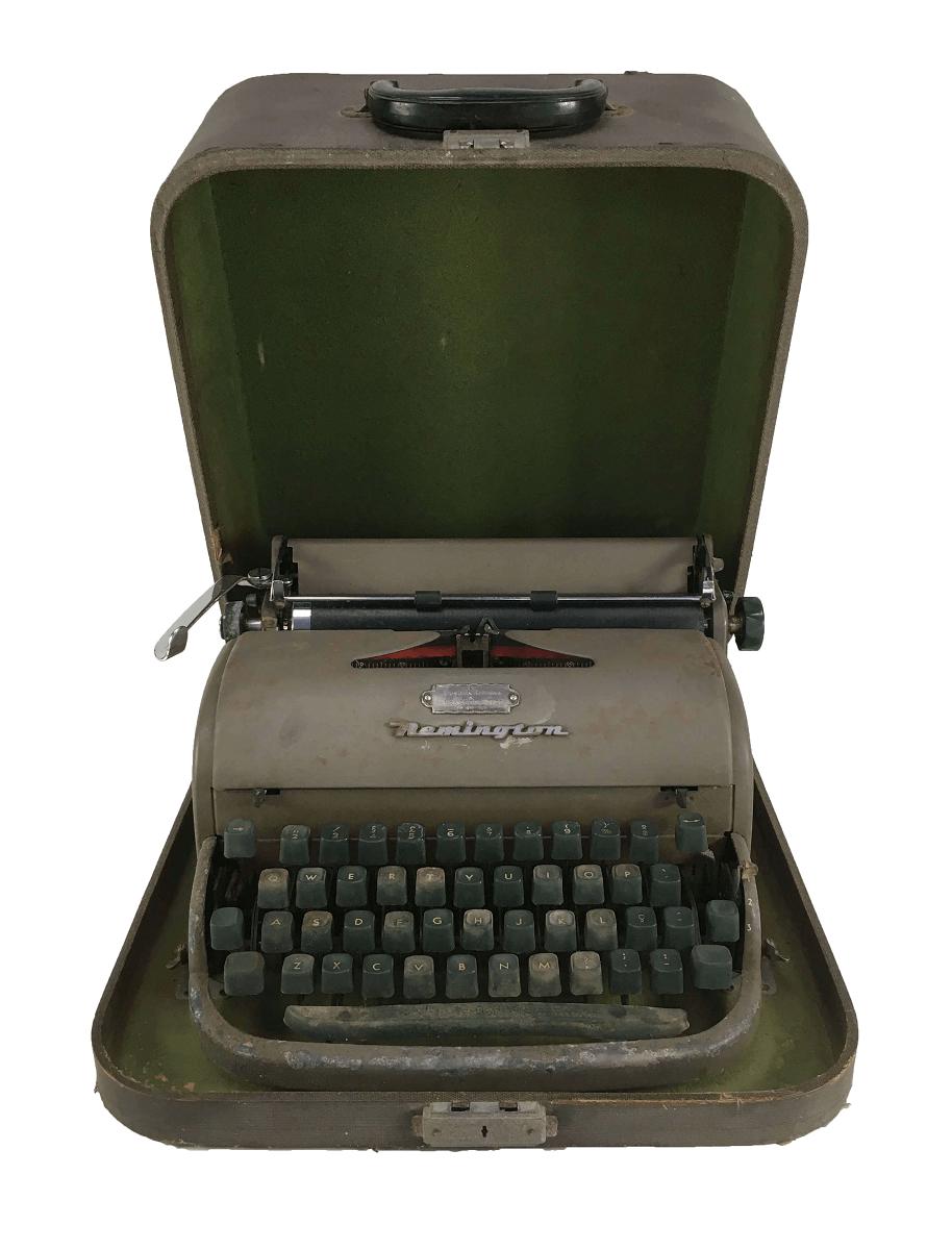 Antiga Maquina De Escrever Remington Na Caixa Original