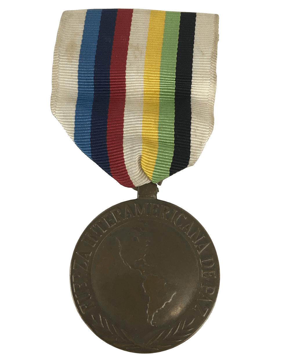 Antiga Medalha Militar Força Inter Americana De Paz