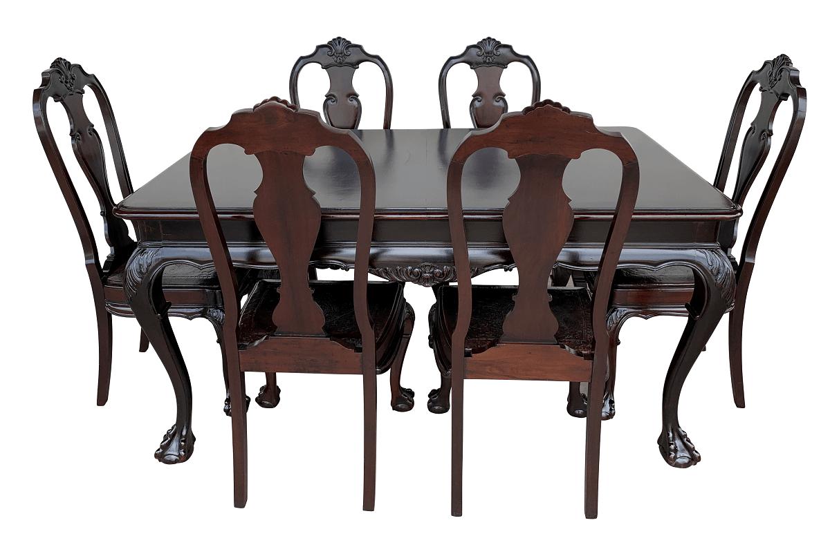 Antiga Mesa De Jantar 6 Cadeiras Dom Jose Pata De Aguia