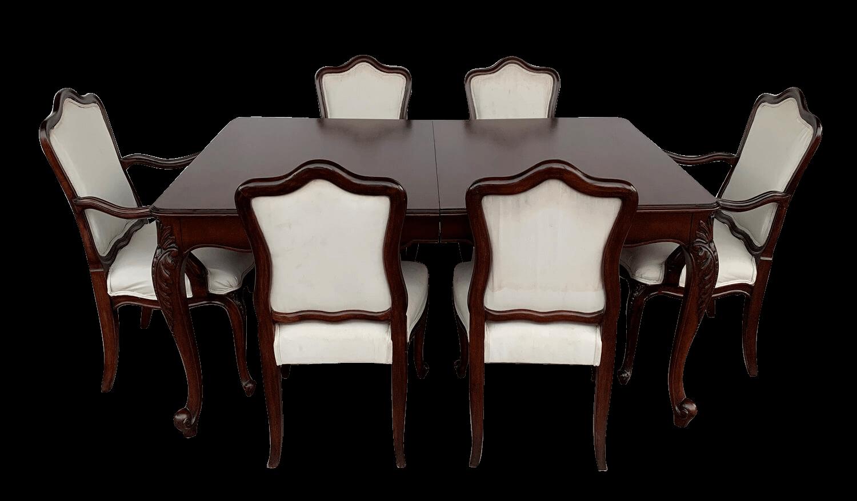 Antiga Mesa De Jantar 6 Cadeiras Estilo Ingles