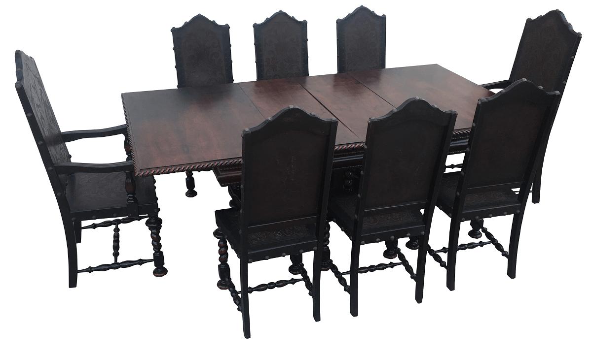 Antiga Mesa De Jantar 8 Cadeiras Manoelino Colonial