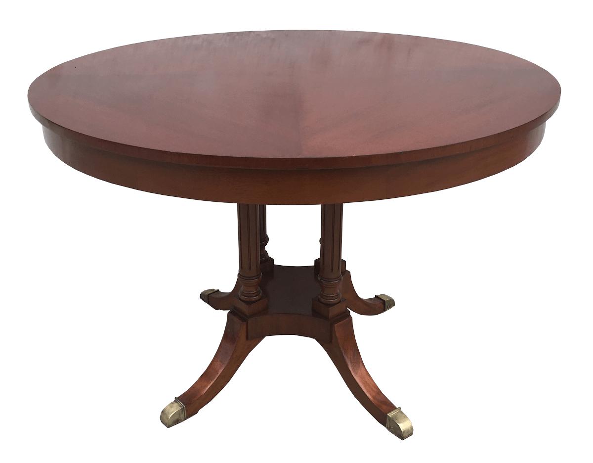 Antiga Mesa Redonda Inglesa Sem Cadeira Madeira Nobre Pes Bronze