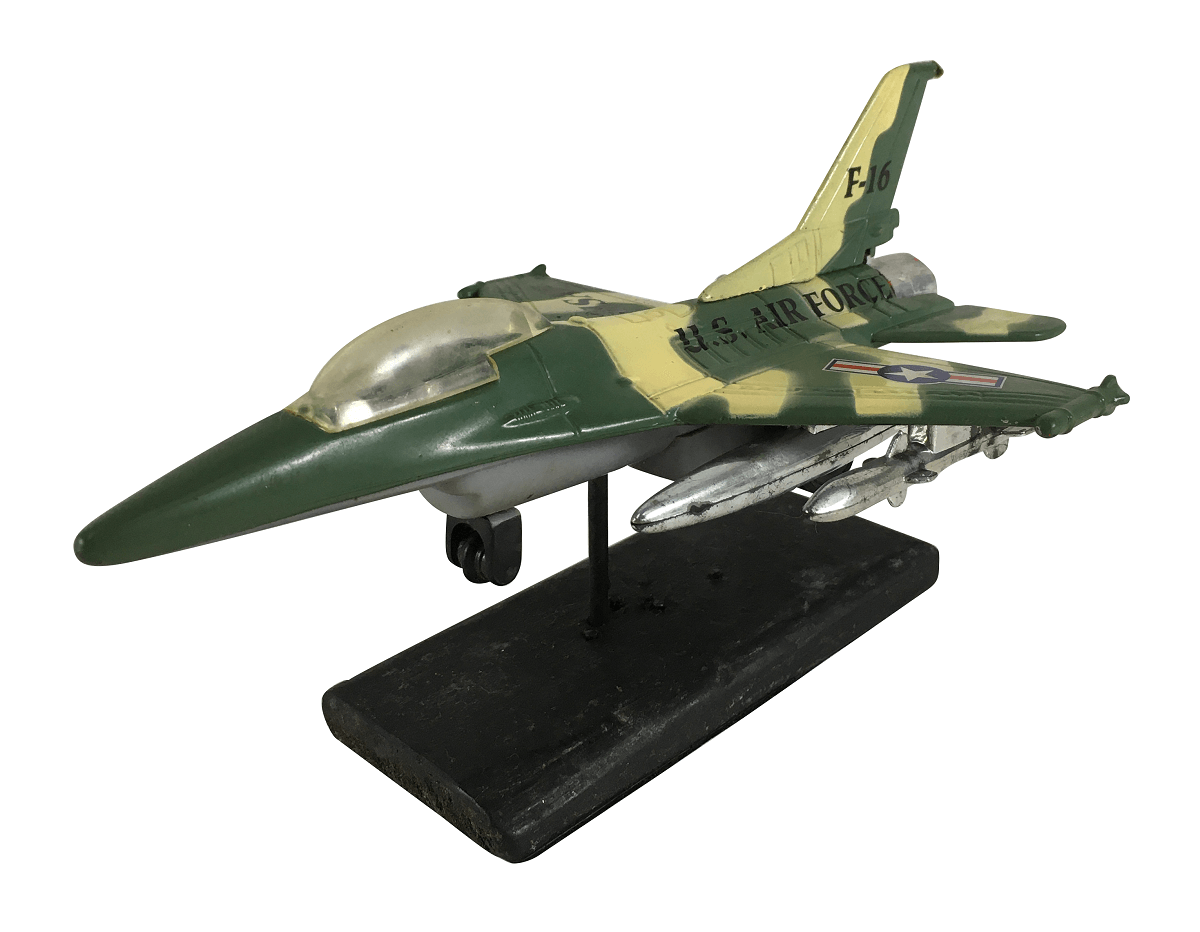 Antiga Miniatura Aviao Caça Americano F16