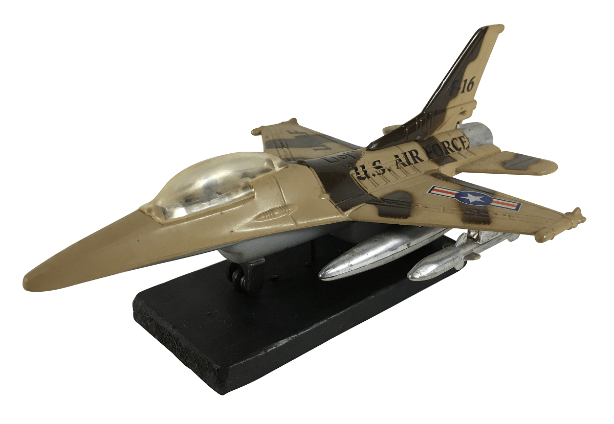Antiga Miniatura Aviao Caça F16 Americano